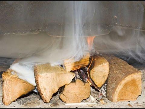 Как растопить печь без дыма?