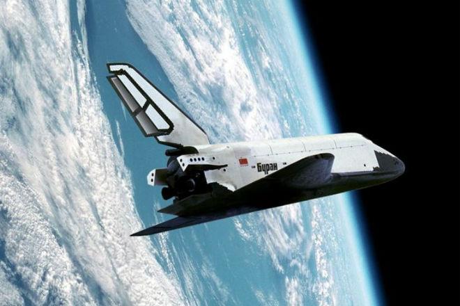 Первый и единственный космический полет Бурана, снятый на видео