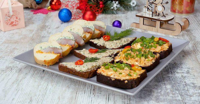 Праздничные закуски для Рождественского стола: яркие и простые