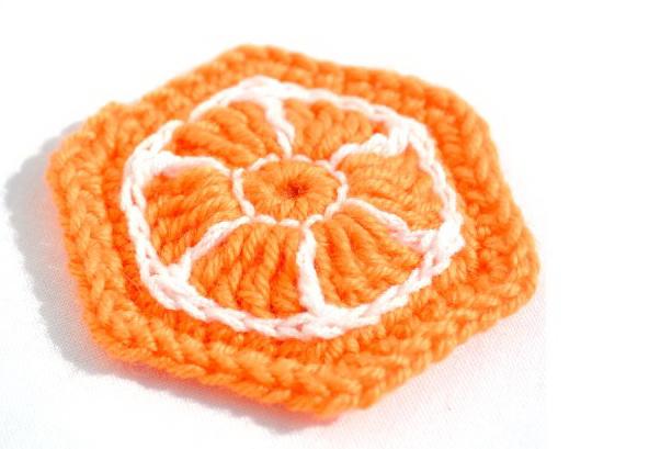 Апельсиновый шестиугольный м…