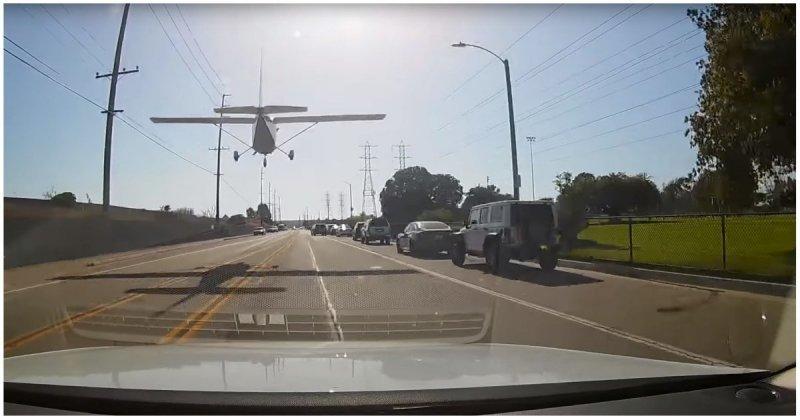Девушка-пилот безупречно посадила самолёт на оживлённой трассе