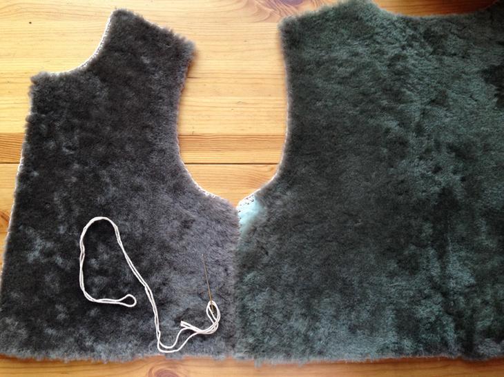 Как сшить жилет из овчины без швейной машинки