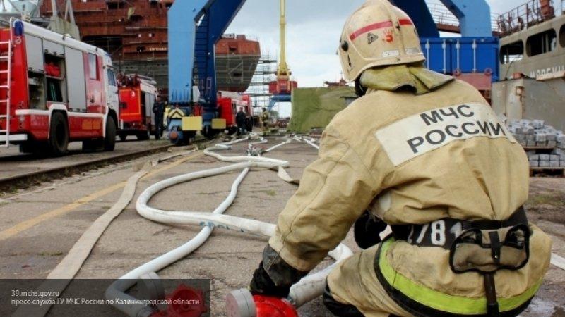 Сегодня в Петрозаводске тушили сильный пожар