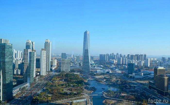 Южнокорейский Сонгдо – город-призрак из будущего город-призрак,Сонгдо,Южная Корея