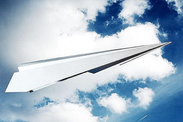 Американцы запустили в воздух самый большой в мире бумажный самолет