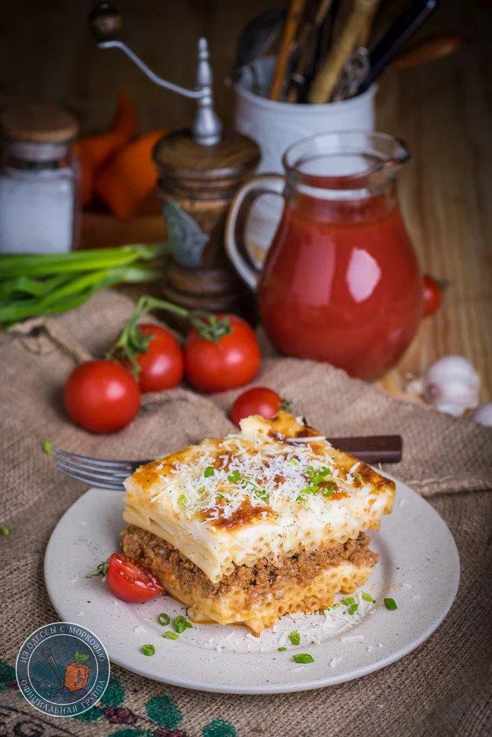 Пастицио. Греческая макаронная запеканка с мясом