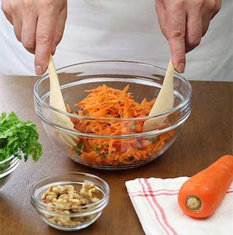 Рецепт салата с морковью и горчицей