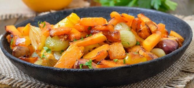 Соте из тыквы с овощами