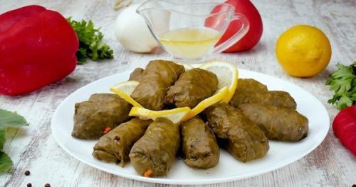 Аппетитная греческая долма.