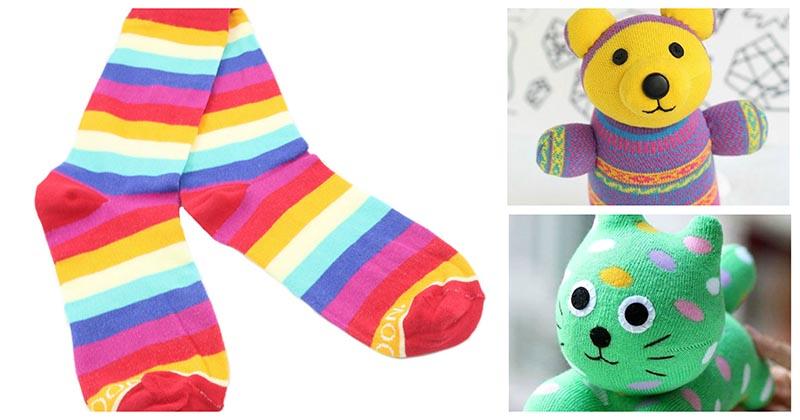 Игрушки, которые покоряют с первого взгляда, из обыкновенных носков