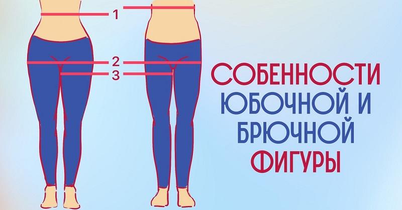 В чём разница между брючной и юбочной фигурой