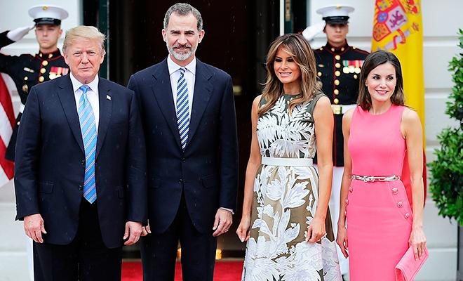 Дональд и Мелания Трамп приняли короля Испании Филиппа и королеву Летицию в Белом доме