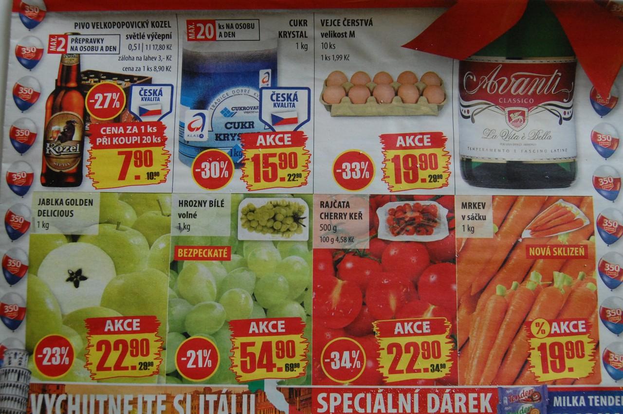 Сколько стоят продукты в Карловых Варах, Чехии?