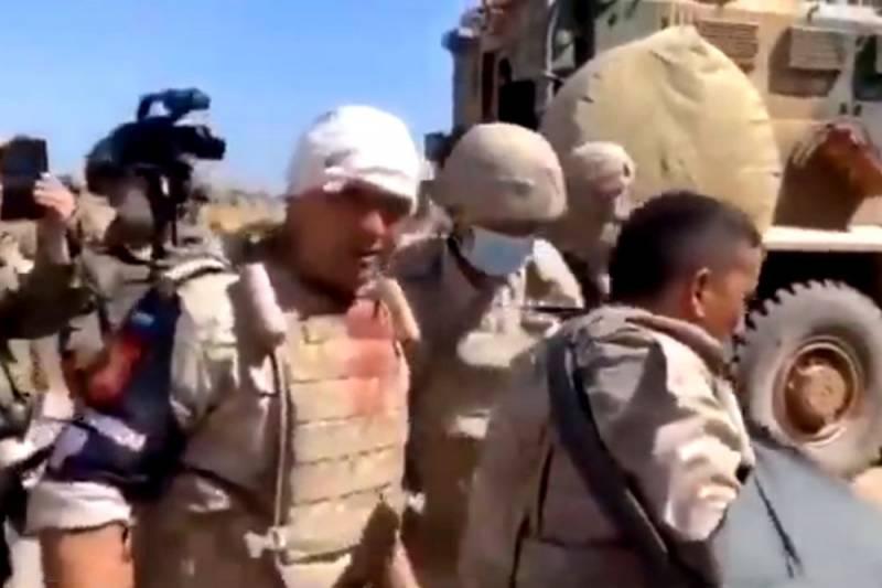 Подрыв колонны: раненые в Сирии российские солдаты попали на видео
