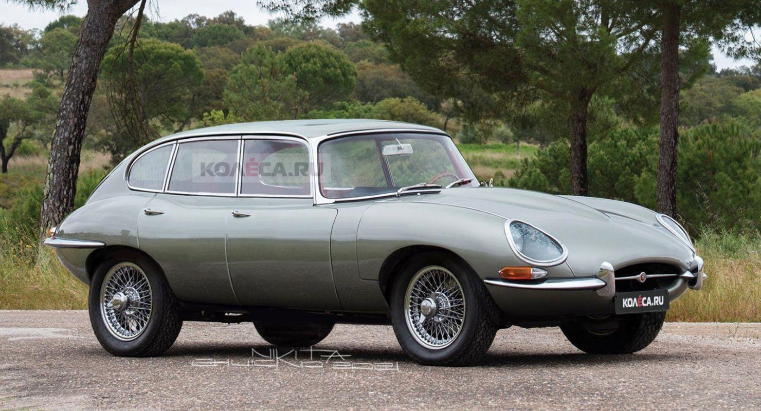 Опубликованы изображения кроссовера Jaguar F-Pace 60-х годов Автомобили