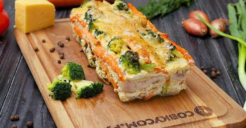 Рыба с овощами в сырном соусе