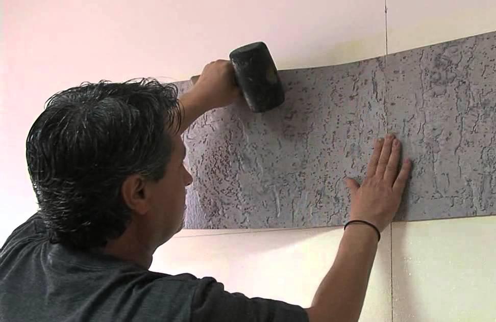 как клеить пробковые панели на стену фото