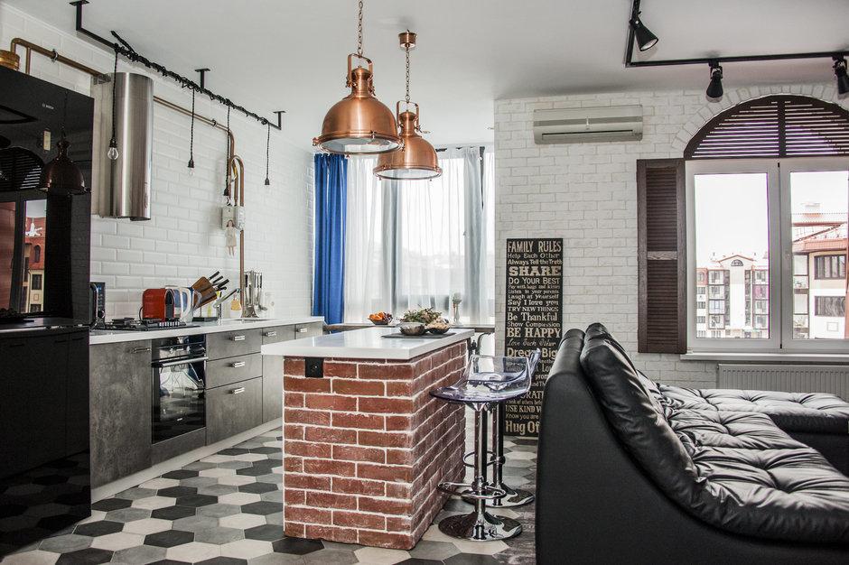 Фотография: Кухня и столовая в стиле Лофт, Квартира, Студия, Советы, Гид – фото на InMyRoom.ru