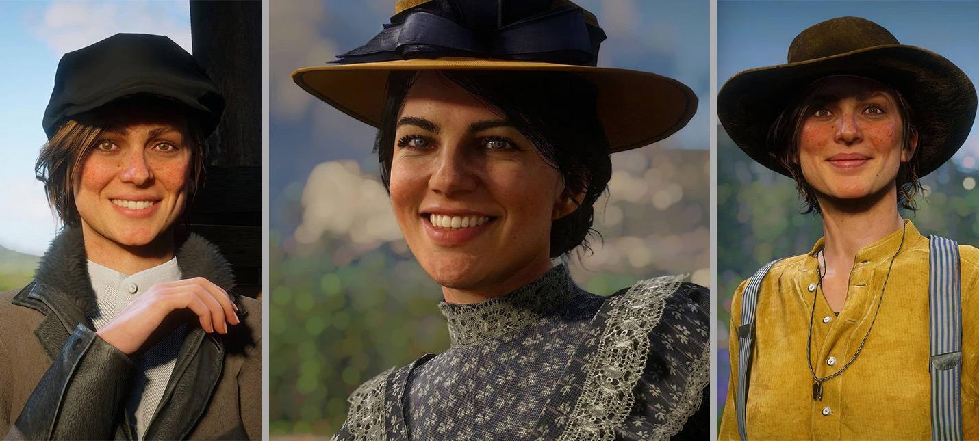 Игрок Red Dead Redemption 2 делает портреты персонажей с улыбками на лице action,adventures,arcade,pc,ps,xbox,Аркады,Игры,Приключения,Стрелялки,Шутеры