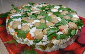Праздничный салат «Грибная полянка»
