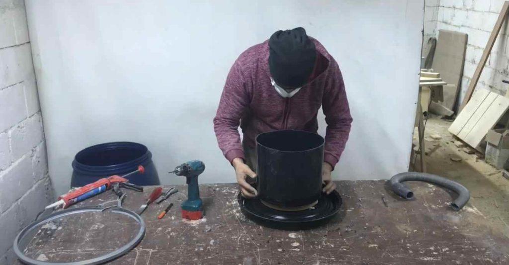 Как сделать простой циклонный фильтр для бытового пылесоса