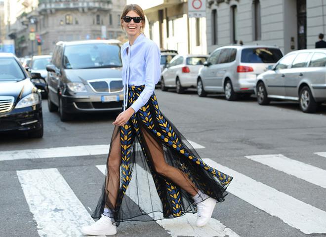 Как носить макси-юбки летом