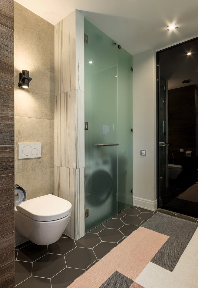 скрытая ниша в интерьере ванной