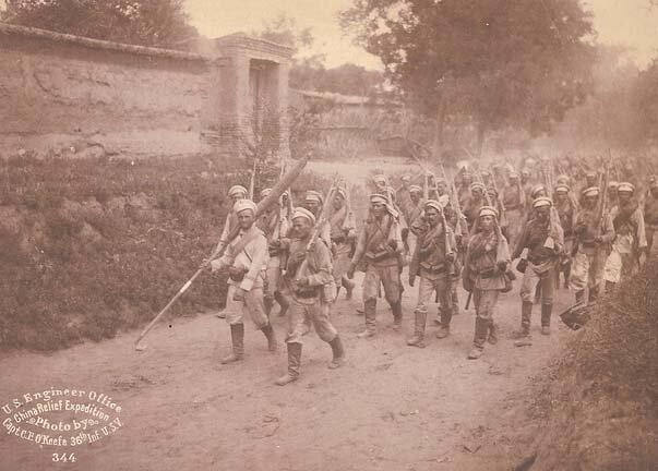 Русские войска в Маньчжурии, 1900 г.