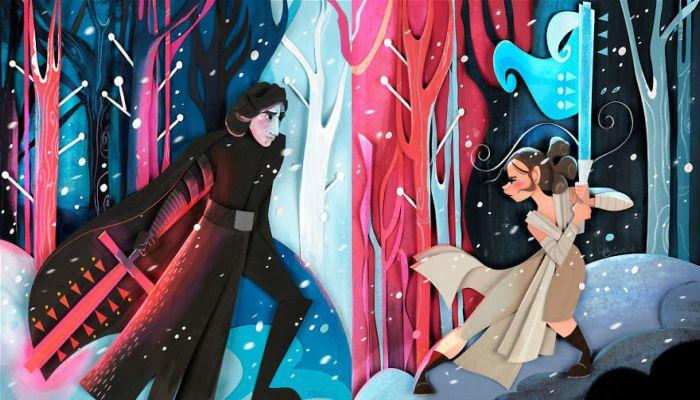 Бразильская художница создаёт волшебные иллюстрации-аппликации по мотивам мультфильмов