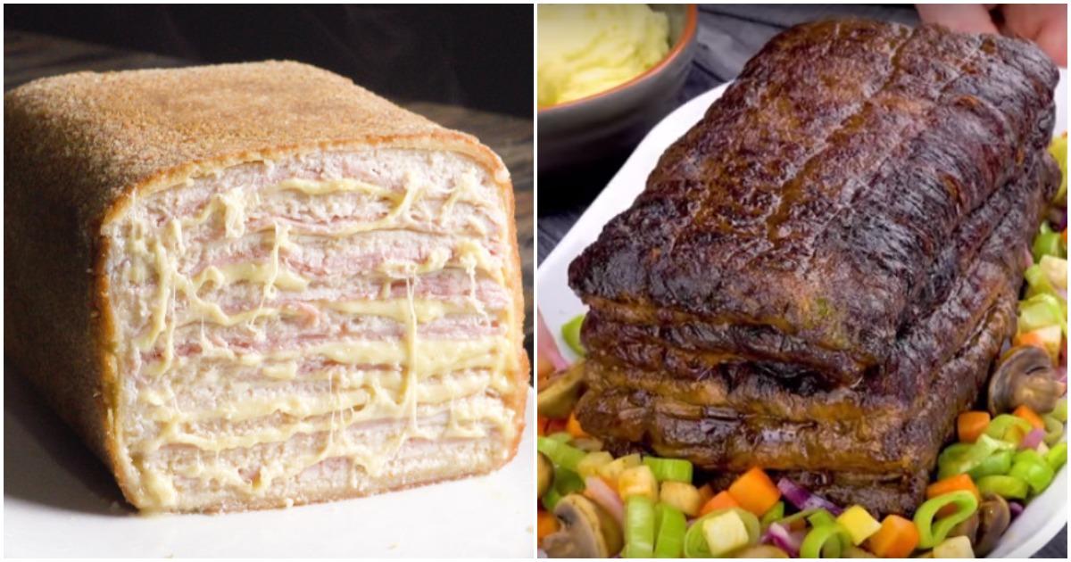 Мясной хлеб для большой компании: необычная подача — отменный результат