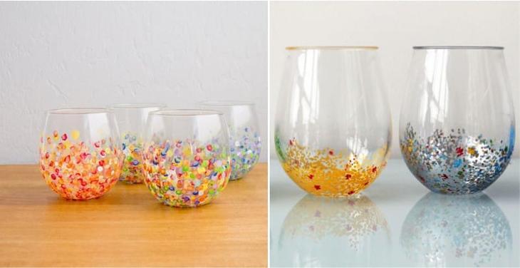 Точечная роспись стаканов