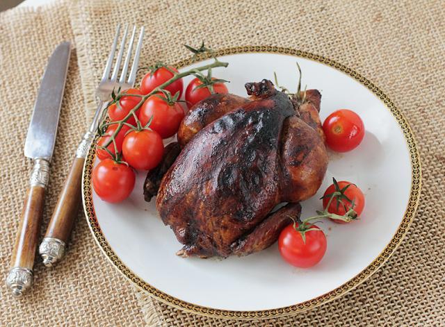 Запеченный цыпленок, маринованный в бальзамическом уксусе/Roast balsamic chicken