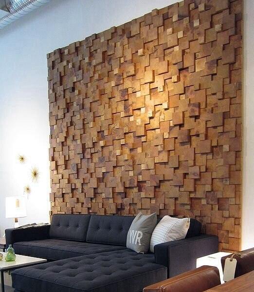 Картина из деревянных брусков