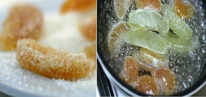 Любимым детям только полезные угощения — Лимонные дольки в сахаре