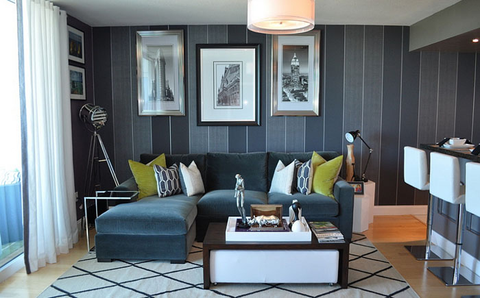 Небольшая гостиная от Nicole White Designs