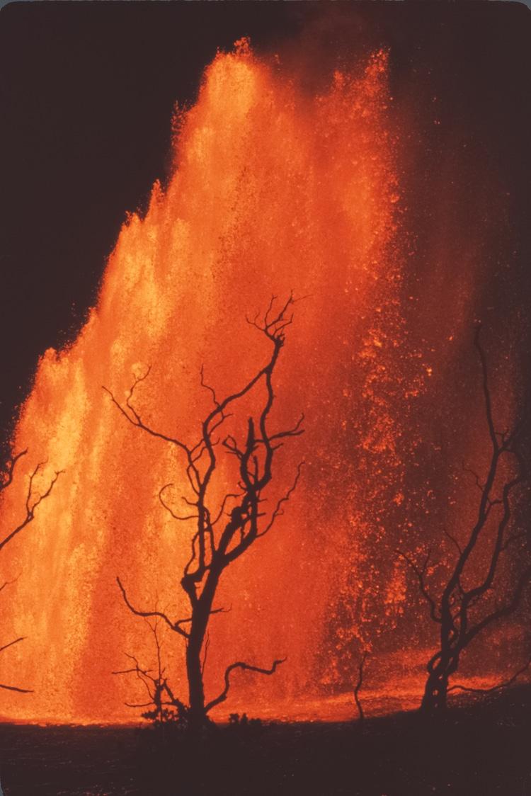 Извержение вулкана, длившееся 5 лет