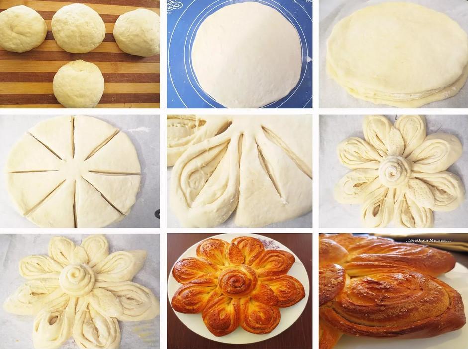 формирование пирогов из дрожжевого теста фото собрал