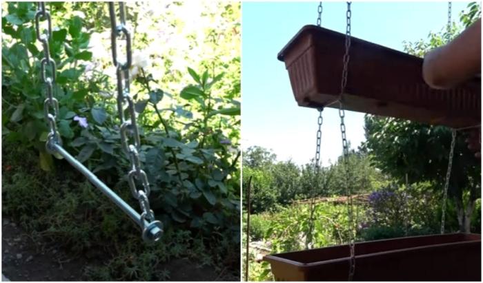Быстрый способ сделать подвесной цветник: пригодится и на даче, и на балконе чтобы, создания, контейнеры, лучше, уровне, нужно, шпильки, стоит, всего, можно, растения, место, понадобится, цветника, контейнер, способом, которые, цветочные, помощью, подвесные