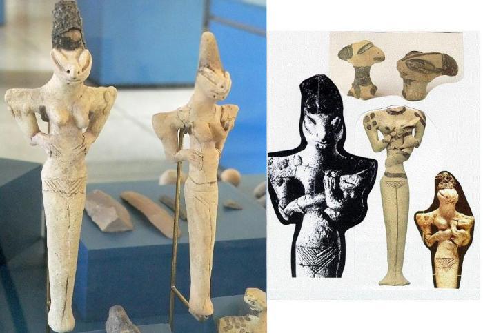 Ящероподобные статуэтки Убайд