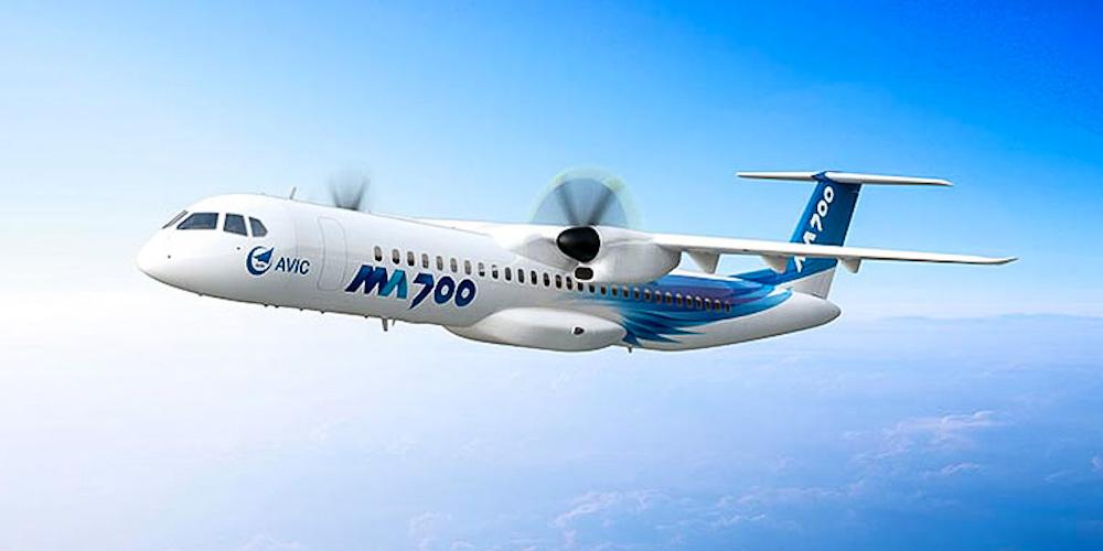 Китай планирует запустить на рынок свой новый турбовинтовой самолет MA700 к 2021 году