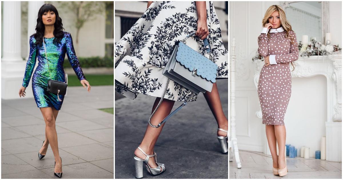 Шикарные стильные платья 2018 — новинки и тенденции