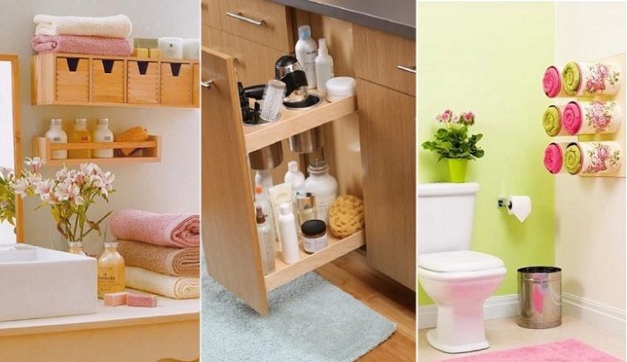 20 практичных советов для хранения мелочей в ванной, чтобы ничего не падало на пол