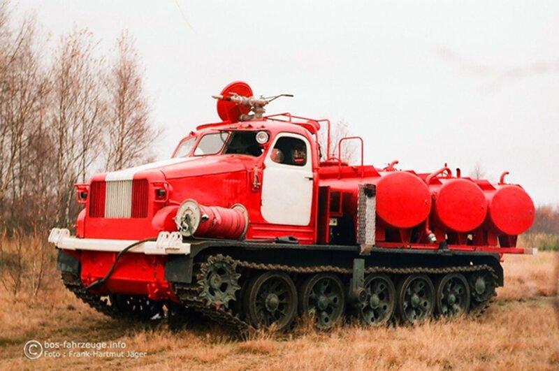 Лесная пожарная машина на базе артиллерийского тягача АТ-Т история, ретро, фото