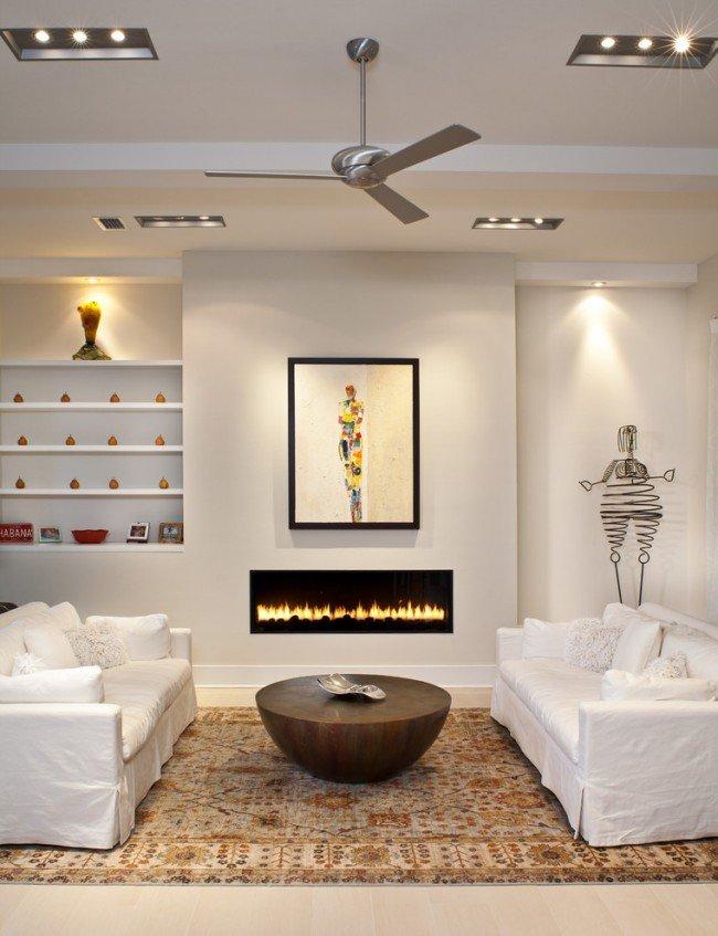 Симметрично расположенная мебель способствует к диалогу