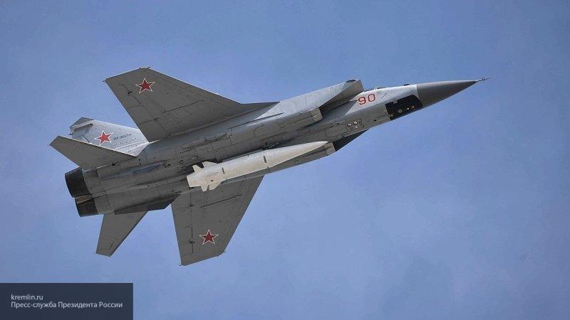 """Вооруженные """"Кинжалами"""" МиГ-31 впервые продемонстрировали на Армейских играх"""