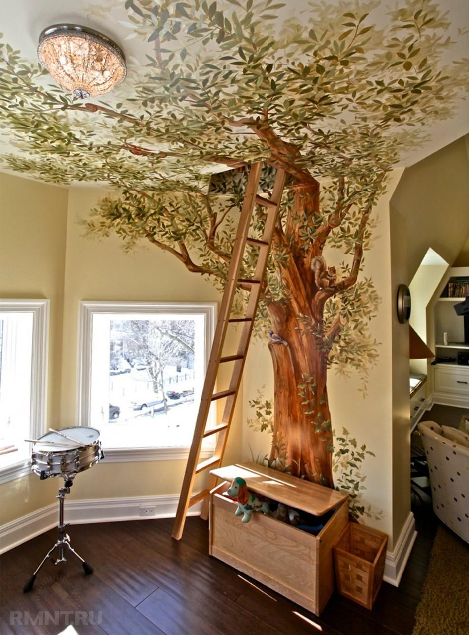 красок деревья в интерьере картинки машина