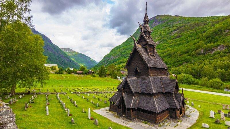 Боргуннская ставкирка (Borgund stave) викинги, интересно, история, норвегия, открытия, факты