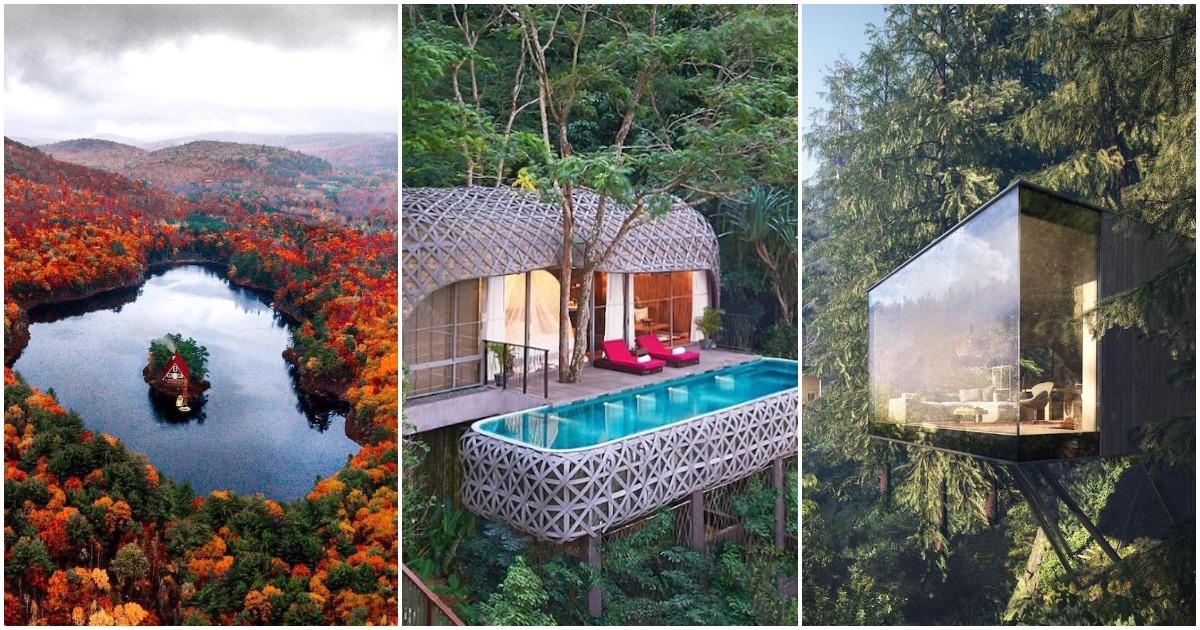 20 домов на природе, в которые хочется сбежать от городской суеты