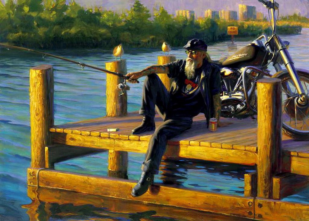 Творчество Девида Уля, культового художника в жанре мото-арт