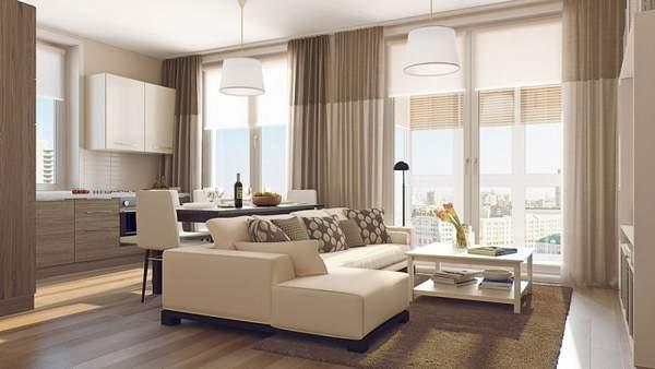 как расставить мебель в однокомнатной квартире компактно, фото 5